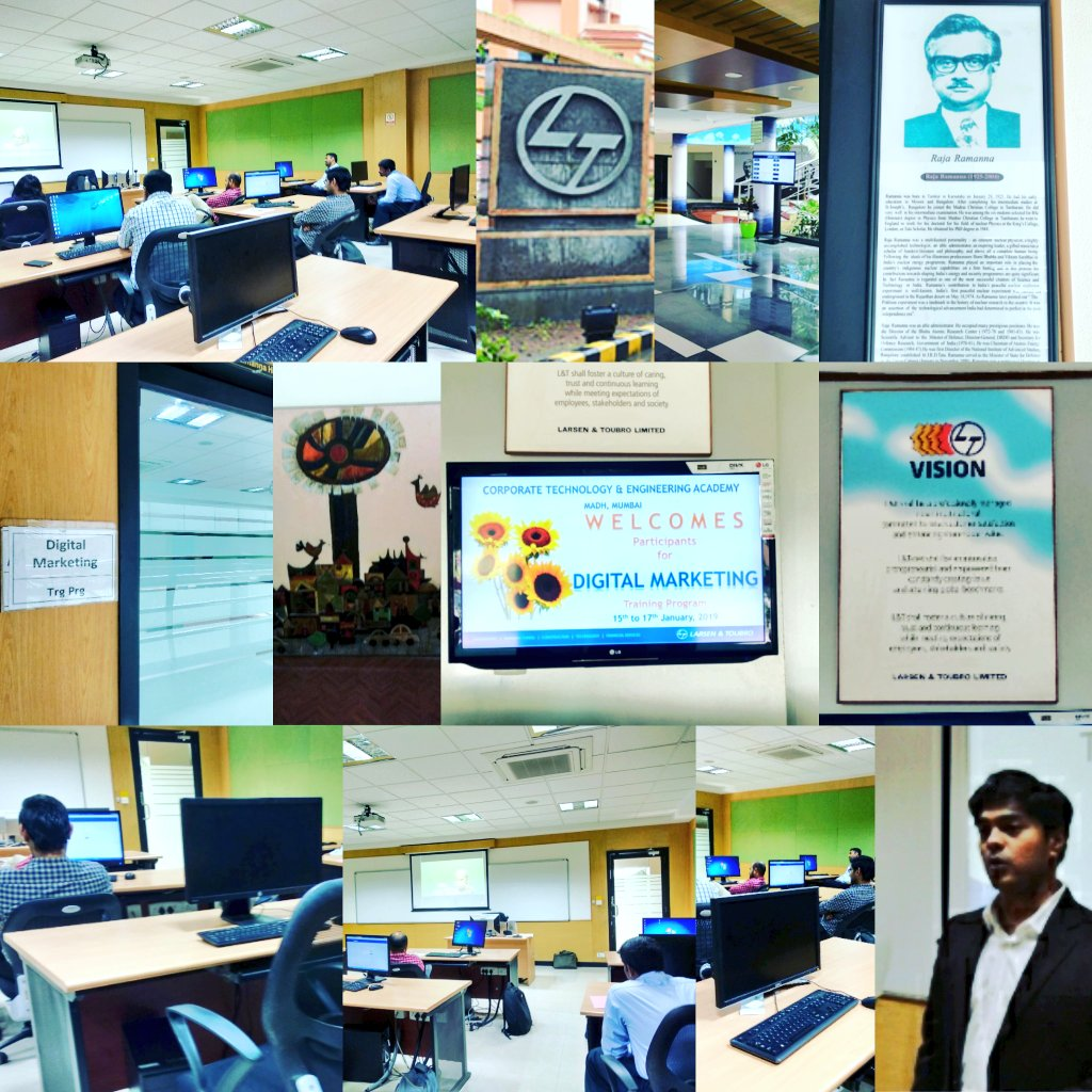 corporate training trainer ananthv lnt digital marketing social media